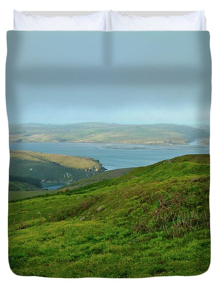 Point Reyes Overlooking Tomales Bay Duvet Cover