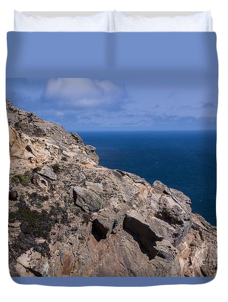 Point Reyes Rock Cliffs Duvet Cover