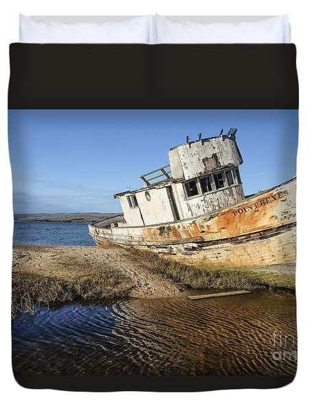 Point Reyes Shipwreck Duvet Cover by Amy Fearn