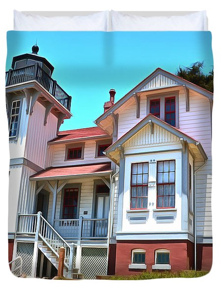 Duvet Cover featuring the photograph Point San Luis Lighthouse by Floyd Snyder