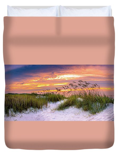 Point Sunrise Duvet Cover by David Smith