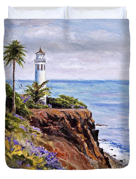 Point Vicente Palos Verdes Duvet Cover