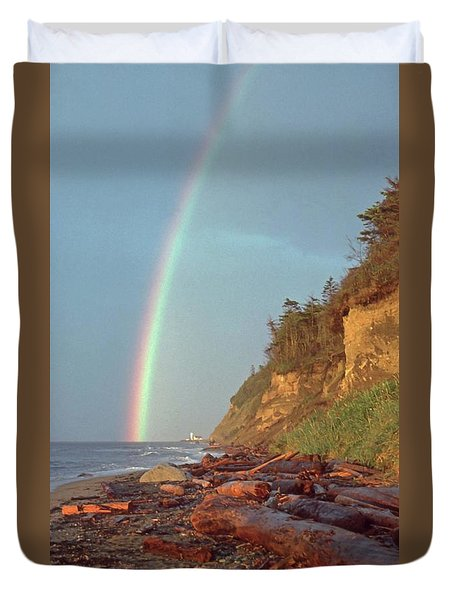 Point Wilson Duvet Cover by Laurie Stewart
