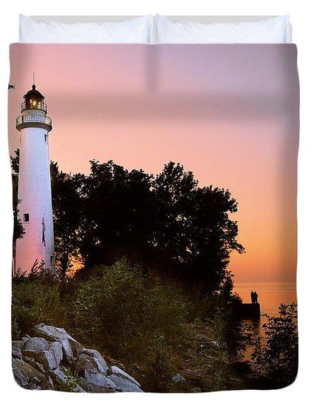Pointe Aux Barques Duvet Cover
