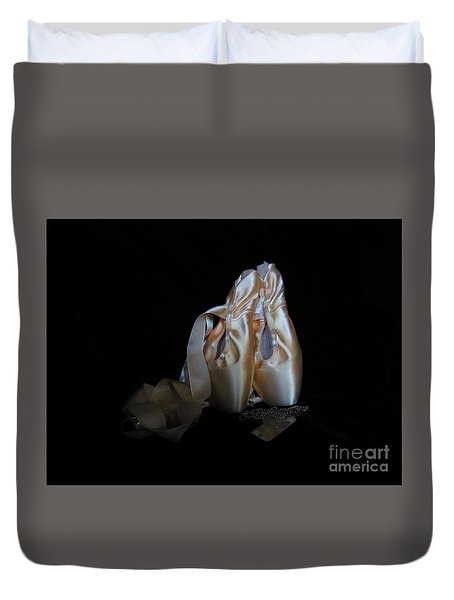 Pointe Shoes And Dog Tags3 Duvet Cover