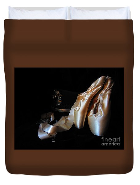 Pointe Shoes, Dog Tags,and A Badge Duvet Cover
