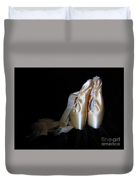 Pointe Shoes2 Duvet Cover by Laurianna Taylor