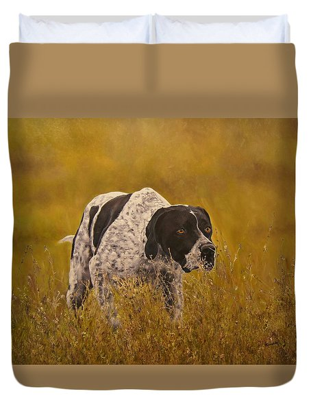 Pointer...to The Point....... Duvet Cover by Erna Goudbeek