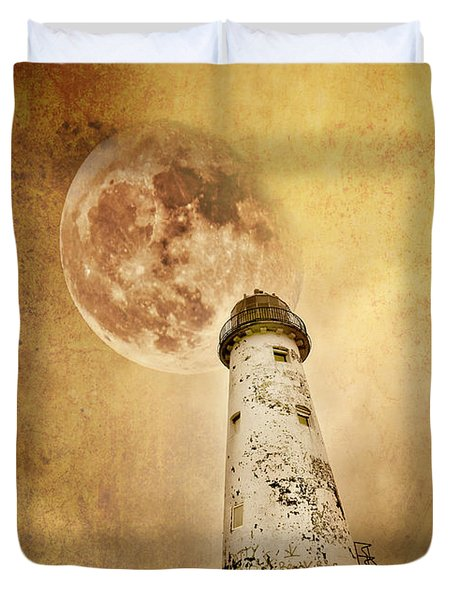 Pointing The Way Duvet Cover by Meirion Matthias