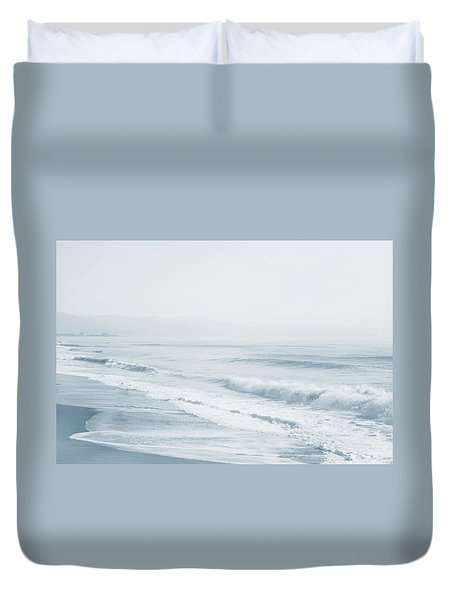 Duvet Cover featuring the photograph Pointless Nostalgia. Series Ethereal Blue  by Jenny Rainbow
