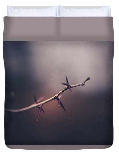 Duvet Cover featuring the photograph Points Of View by Shane Holsclaw