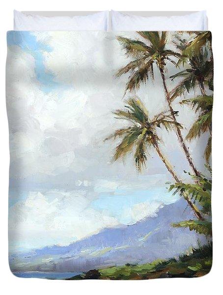 Poipu Palms Duvet Cover