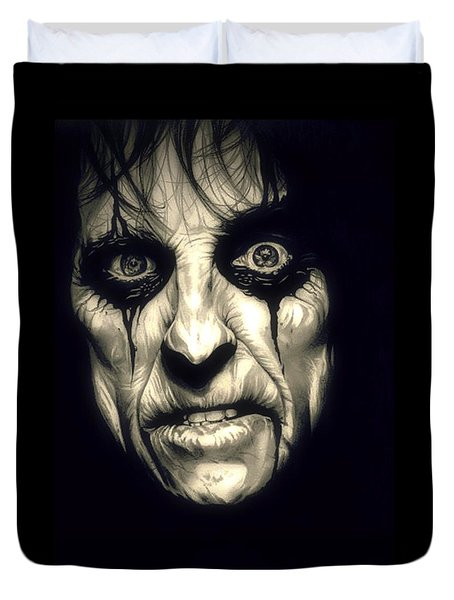 Poison Alice Cooper Duvet Cover by Fred Larucci