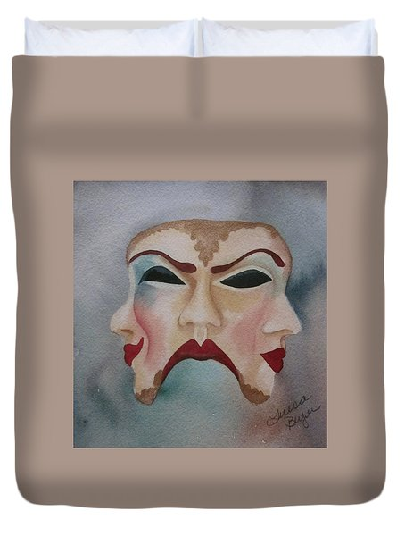 Duvet Cover featuring the painting Poison And Wine by Teresa Beyer