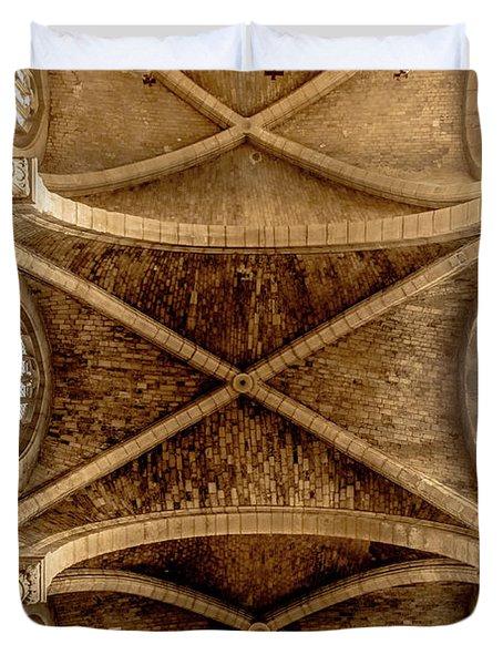 Poissy, France - Ceiling, Notre-dame De Poissy Duvet Cover