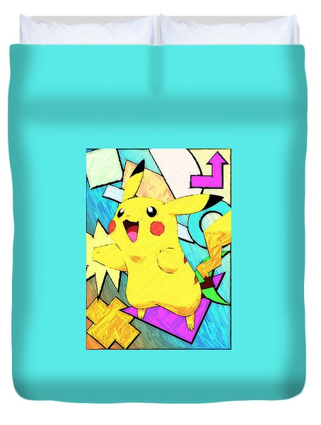 Pokemon - Pikachu Duvet Cover by Kyle West