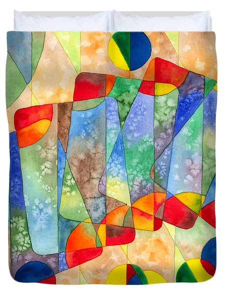 Poker Abstract Watercolor Duvet Cover