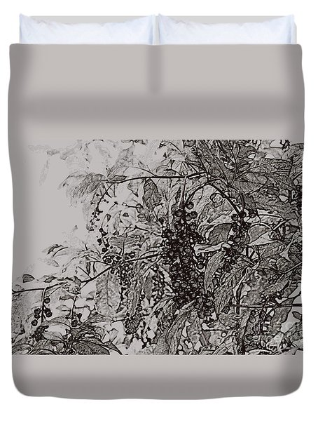 Pokeweed Duvet Cover