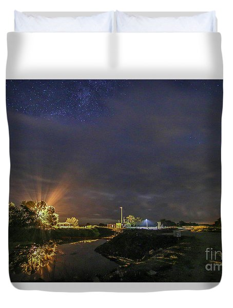 Poking Through The Clouds Duvet Cover