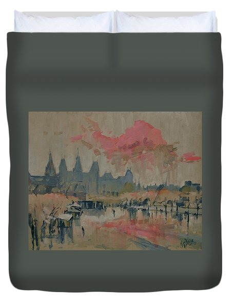 Pokkenweer Museum Square In Amsterdam Duvet Cover