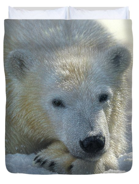Polar Bear Cub Duvet Cover