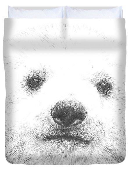 Polar Bear Cub Duvet Cover