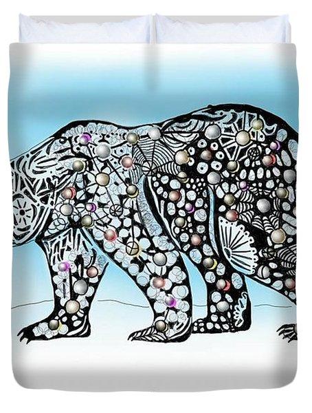 Polar Bear Doodle Duvet Cover