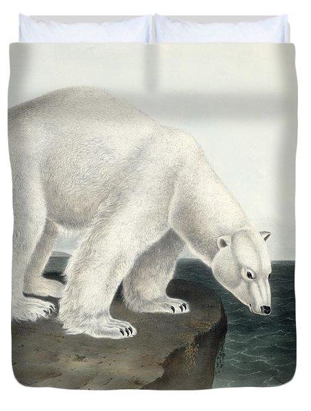 Polar Bear Duvet Cover by John James Audubon