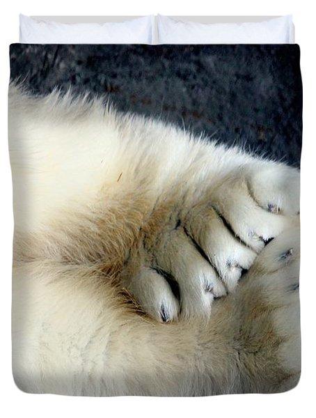 Polar Bear Paws Duvet Cover