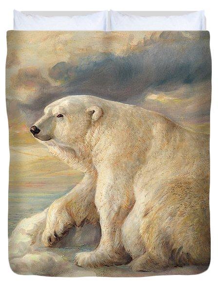 Polar Bear Rests On The Ice - Arctic Alaska Duvet Cover