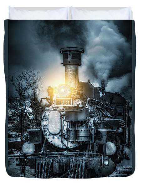 Duvet Cover featuring the photograph Polar Express by Darren White