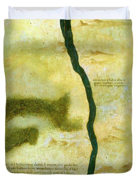 Polar Lands Imagined On Top Of The Bay Of Hudson Duvet Cover