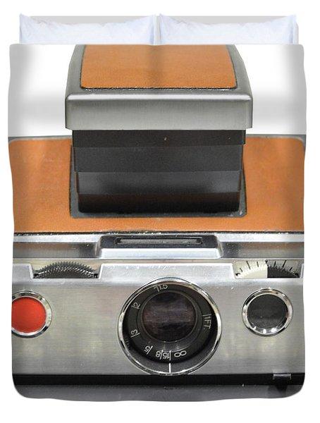 Polaroid Sx70 On White Duvet Cover