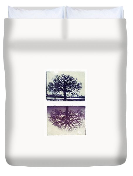 Polaroid Transfer Tree Duvet Cover by Jane Linders