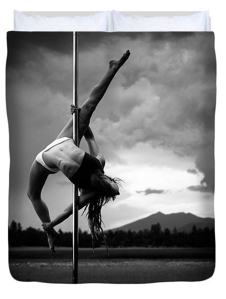 Pole Dance 1 Duvet Cover