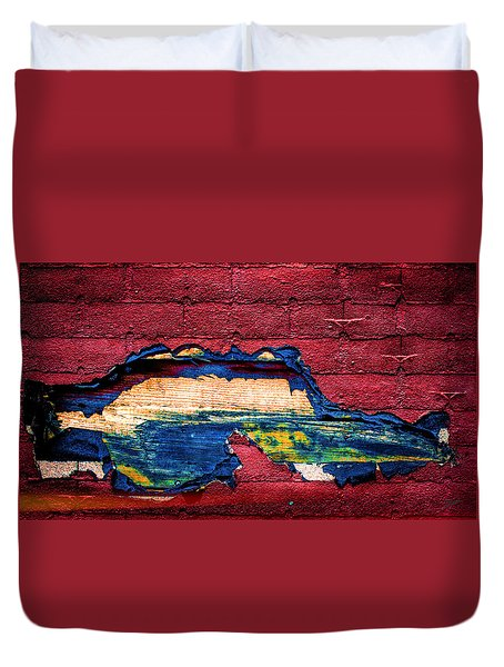 Police Car Abstract Duvet Cover