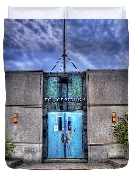 Police Station Duvet Cover by Tammy Wetzel