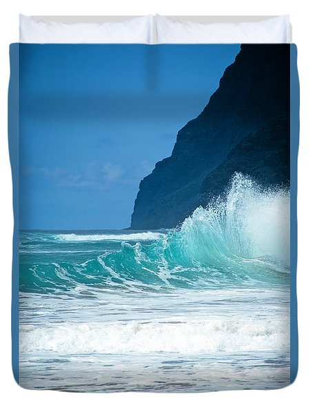Polihale Beach  Duvet Cover by Kevin Smith