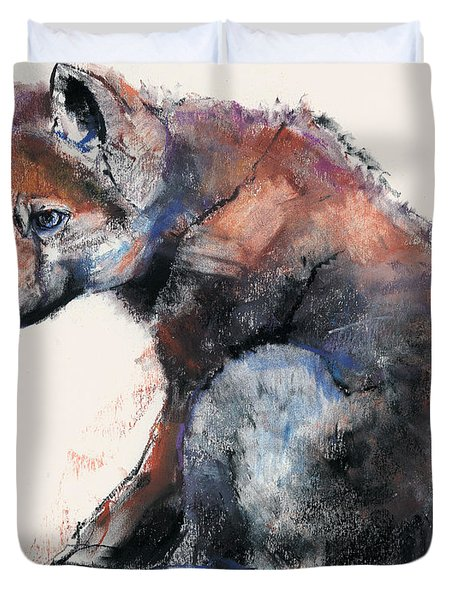Polish Wolf Pup Duvet Cover