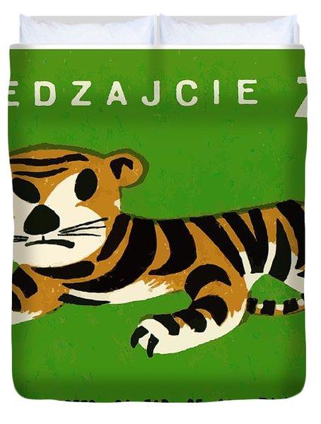 Polish Zoo Tiger Matchbox Label Duvet Cover