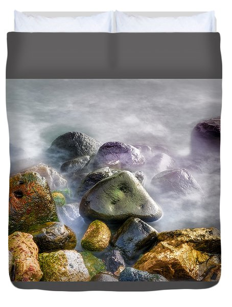 Polished Rocks Duvet Cover