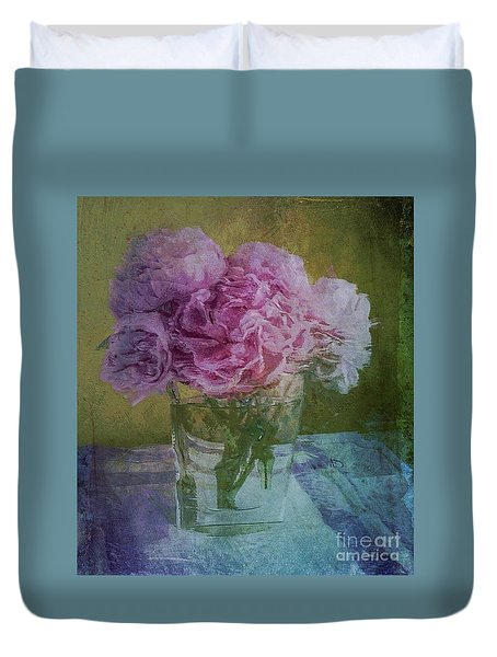 Polite Peonies Duvet Cover by Alexis Rotella