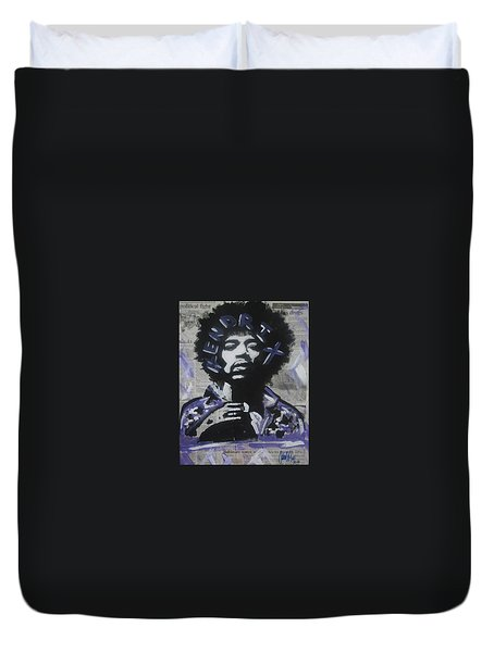 Political Jimi Duvet Cover