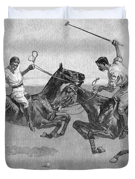 Polo Players Duvet Cover