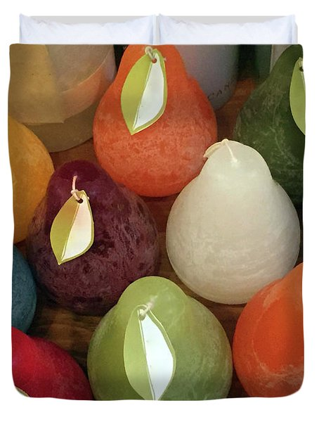 Polychromatic Pears Duvet Cover