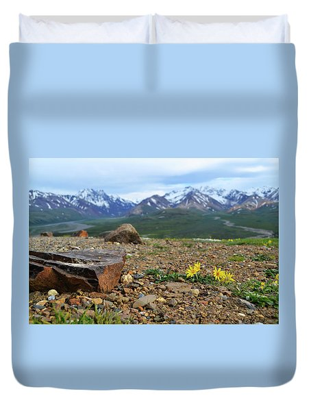 Polychrome Pass, Denali Duvet Cover by Zawhaus Photography