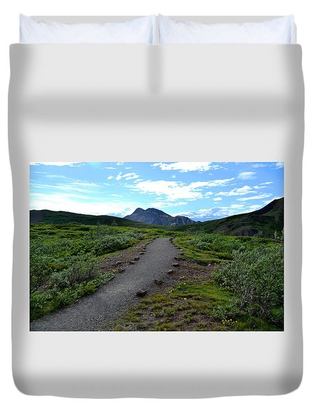 Polychrome Pass Trail, Denali Duvet Cover by Zawhaus Photography