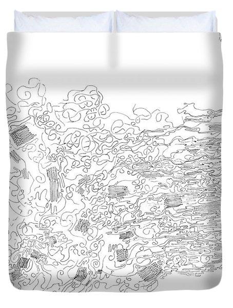 Polymer Fiber Spinning Duvet Cover by Regina Valluzzi