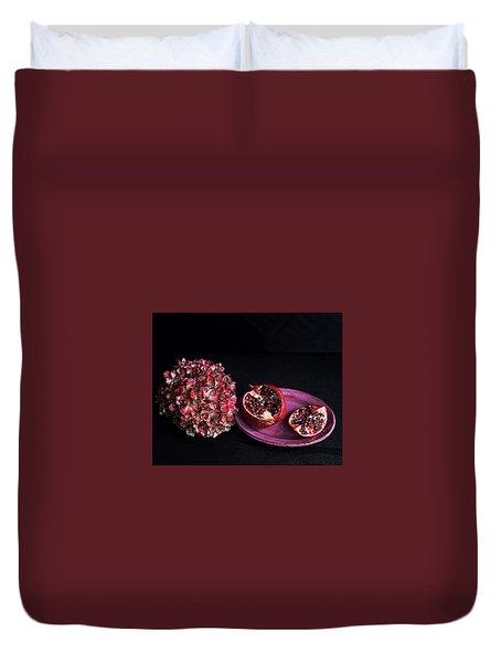 Pomegranate Still Life Duvet Cover