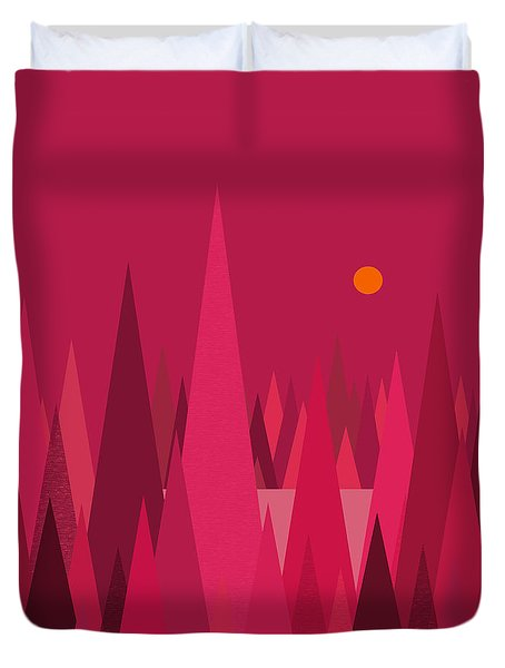 Pomegranate Wood Duvet Cover by Val Arie